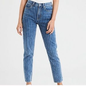 American Eagle / Striped mom jeans / NWOT